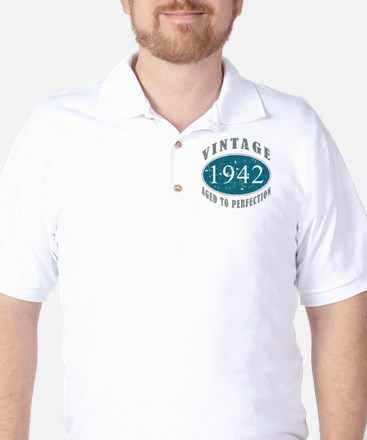 1942 Vintage Blue Golf Shirt