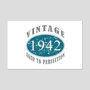 1942 Vintage Blue Mini Poster Print
