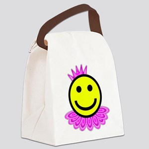 Ballet Smiley Face Canvas Lunch Bag