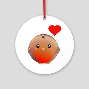 Cute bird Ornament (Round)