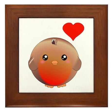 Cute bird Framed Tile