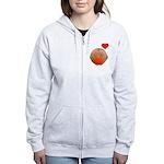 Cute bird Women's Zip Hoodie