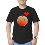 Cute bird Men's Fitted T-Shirt (dark)