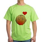 Cute bird Green T-Shirt