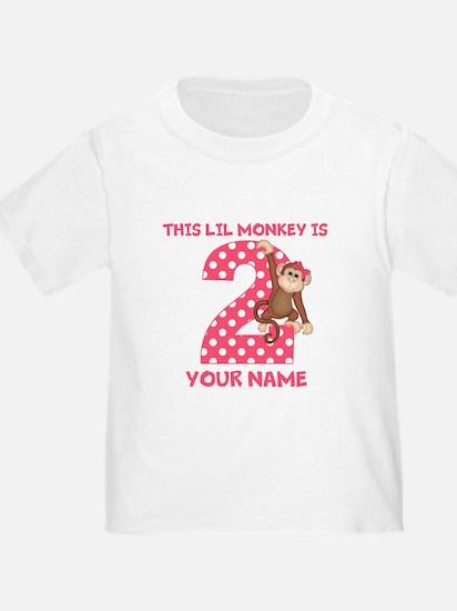 2nd Birthday Monkey Girl T