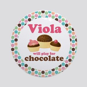 Viola Chocolate Quote Ornament (Round)