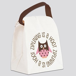 Ziplining Is A Hoot Canvas Lunch Bag