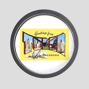 Tulsa Oklahoma Greetings Wall Clock