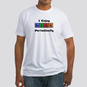 Periodic Table Bacon Science Geek T-Shirt Fitted T
