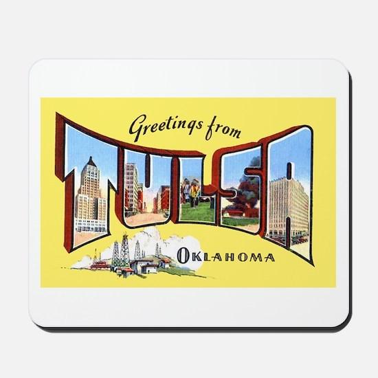 Tulsa Oklahoma Greetings Mousepad