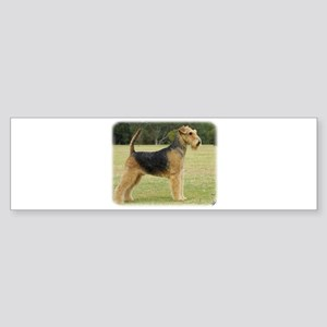 Airedale Terrier 9P011D-027 Sticker (Bumper)