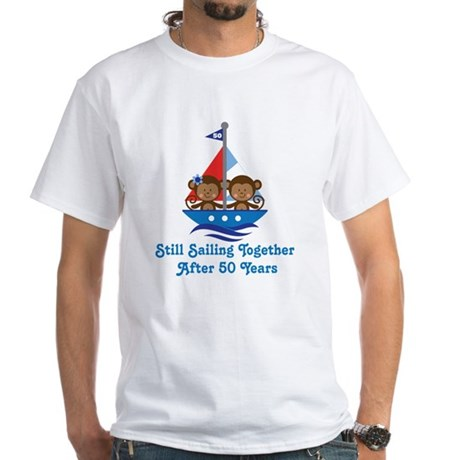 50th Anniversary Sailing White T-Shirt