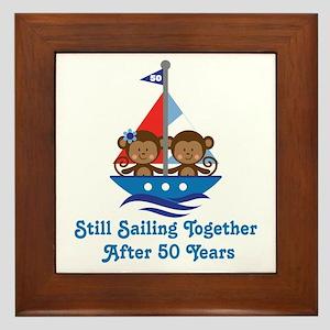 50th Anniversary Sailing Framed Tile