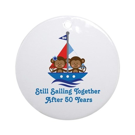 50th Anniversary Sailing Ornament (Round)