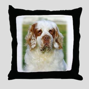 Clumber Spaniel AF015D-125 Throw Pillow