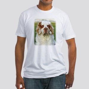 Clumber Spaniel AF015D-125 Fitted T-Shirt