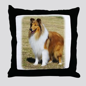 Collie Rough AF036D-028 Throw Pillow