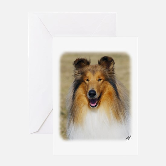Collie Rough AF036D-040 Greeting Card
