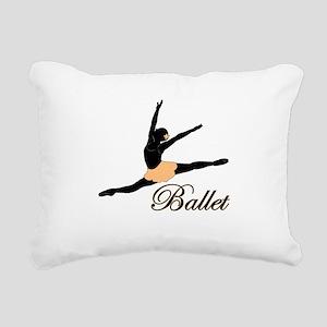 Ballet Leap Rectangular Canvas Pillow