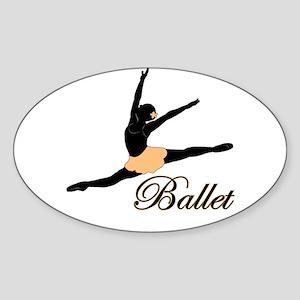 Ballet Leap Sticker (Oval)