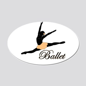 Ballet Leap 20x12 Oval Wall Decal