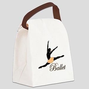 Ballet Leap Canvas Lunch Bag