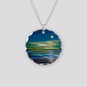 Moonlit Tide Necklace Circle Charm