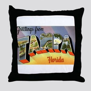 Tampa Florida Greetings Throw Pillow