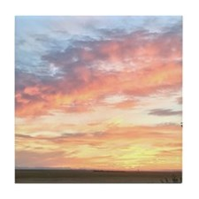 summer sunset Tile Coaster