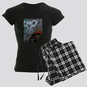 Koala Kangaroo Sunset Women's Dark Pajamas