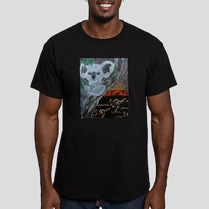 Koala Kangaroo Sunset Men's Fitted T-Shirt (dark)