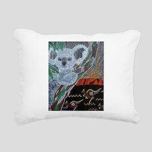 Koala Kangaroo Sunset Rectangular Canvas Pillow