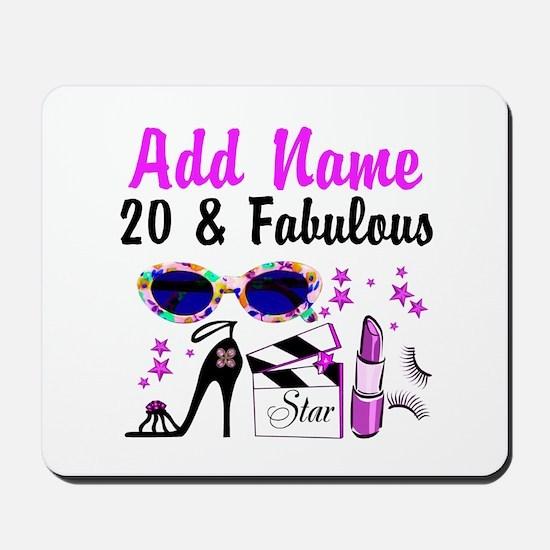 HAPPY 20TH BIRTHDAY Mousepad