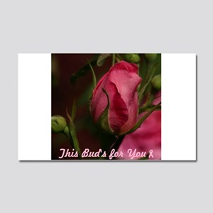 Pink Bud for You Car Magnet 20 x 12