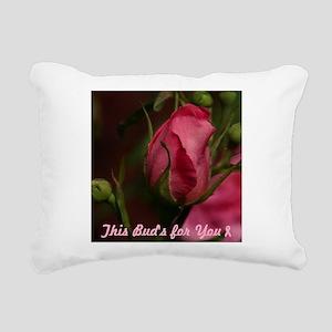 Pink Bud for You Rectangular Canvas Pillow