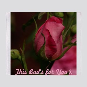 Pink Bud for You Throw Blanket