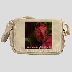 Pink Bud for You Messenger Bag