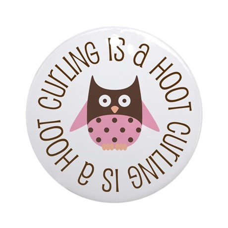 Curling Is A Hoot Ornament (Round)