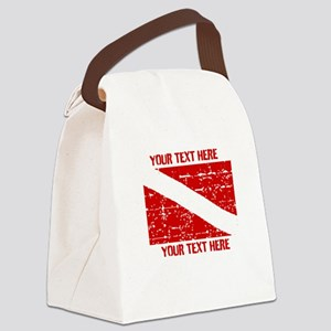 YOUR TEXT FADED DIVE FLAG Canvas Lunch Bag