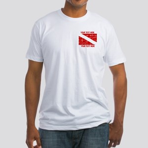 YOUR TEXT FADED DIVE FLAG Fitted T-Shirt