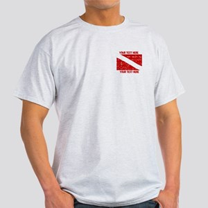 YOUR TEXT FADED DIVE FLAG Light T-Shirt