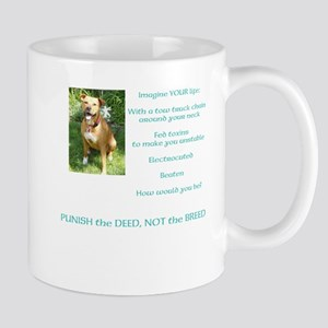 Bull Breed Education Aqua Print Mug