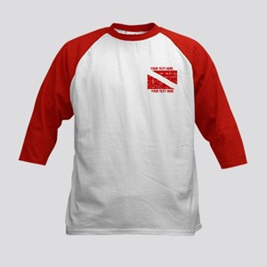 YOUR TEXT FADED DIVE FLAG Kids Baseball Jersey