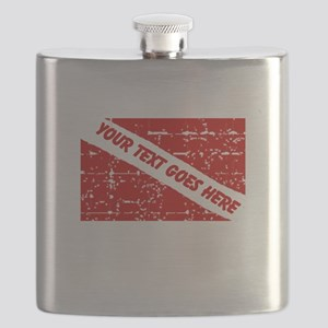 YOUR TEXT FADED DIVE FLAG Flask
