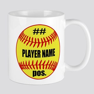 NAME NUMBER POSITION PERSONALIZED SOFTBALL Mug