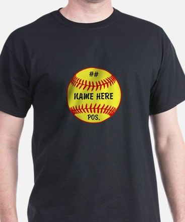 NAME NUMBER POSITION PERSONALIZED SOFTBALL T-Shirt