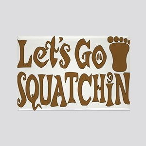 Let's Go Squatchin! Rectangle Magnet