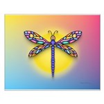 Dragonfly1-Sun-gr1 Small Poster