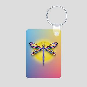 Dragonfly1-Sun-gr1 Aluminum Photo Keychain