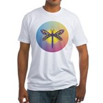 Dragonfly1-Sun-gr1 Fitted T-Shirt